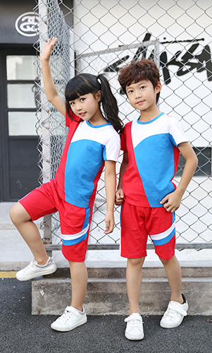 幼儿园园服夏季学生校服定做短袖学生校服定制运动服订制校服工厂园服批发AM17TZ044