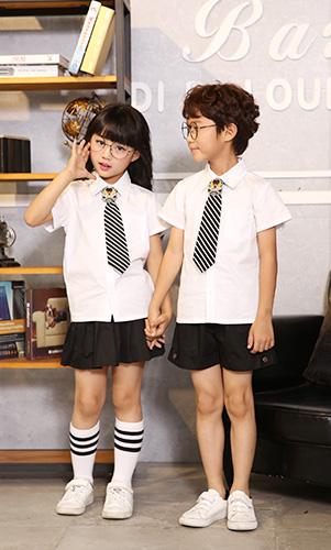 儿童英伦学院校服男女童服装定做AM17TZ075BG