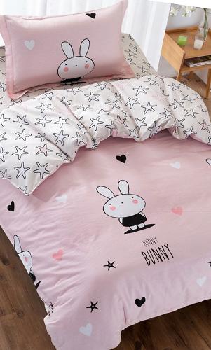 宿舍全棉公主床上用品卡通单人床单被套