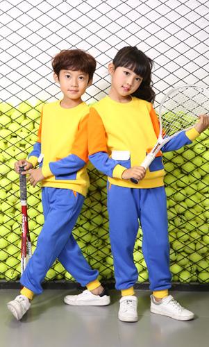 幼儿园园服长袖套装园服定制款式AM17TZ005