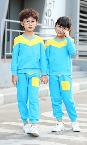 时尚休闲幼儿园园服套装定制AM17TZ016