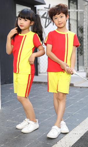 校服夏装时尚套装小学生表演服定制AM17TZ033