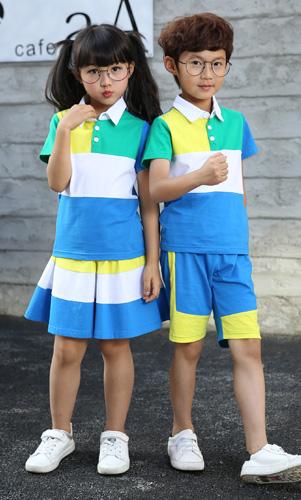 学生校服套装时尚幼儿园园服定制AM17TZ043