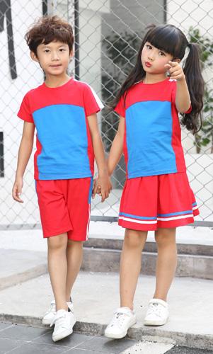 夏装校服时尚套装幼儿园园服定制AM17TZ055