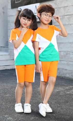 夏装幼儿园园服时尚校服套装定制AM17TZ067