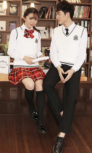 艾咪天使 高端毛织 三件套 校服 初中 高中校服