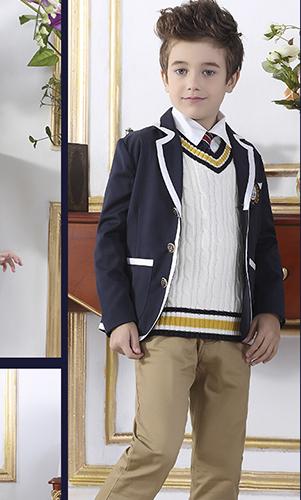 艾咪天使 高端西装校服 中小学英伦风校服 看样来样定制