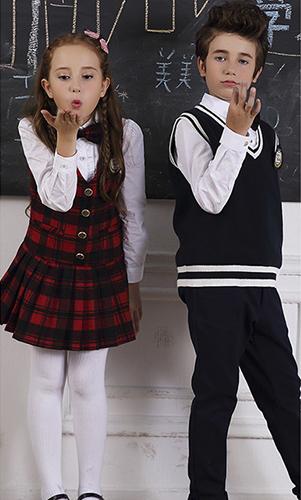 艾咪天使 高端毛织校服 中小学英伦风套装校服