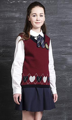 艾咪天使 高端高中校服 英伦风 针织背心套装