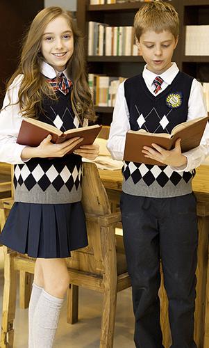 艾咪天使 中小学校服 高端毛织套装校服 英伦风校服