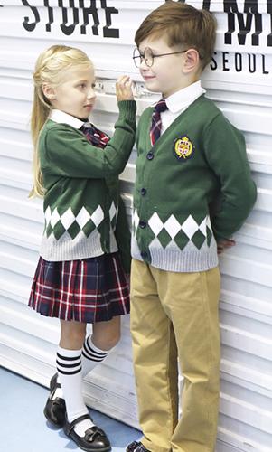 艾咪天使 童装 毛织套装 中小学 幼儿园校服套装