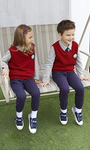 艾咪天使  小学生校服 毛织套装 校服  看样定制