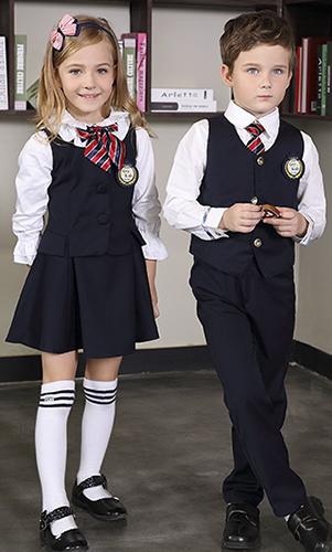 艾咪天使 高端西装校服 小学英伦风校服套装 看样来样定制