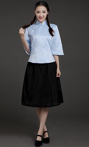 艾咪天使 民族风学生装 女装连衣裙装 复古校服