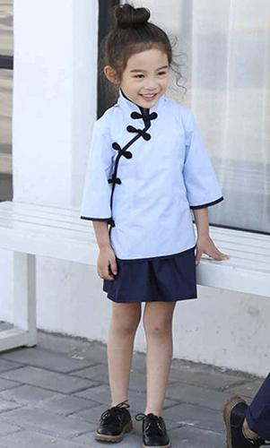 艾咪天使 民族风童装 复古校服 儿童表演服 来样来图定制