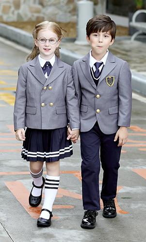 艾咪天使 高档西装校服 时尚英伦风经典校服 三件套装
