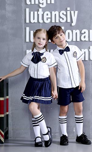 艾咪天使 英伦风衬衫校服套装 中小学校服两件套