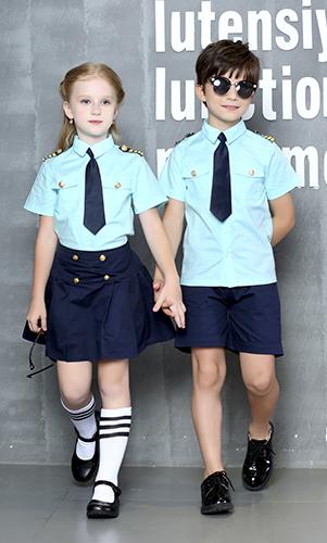 艾咪天使 时尚童装  校服表演服套装 空乘表演服童套装