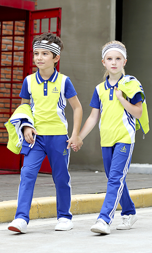 艾咪天使 夏季运动校服 时尚校服 两件套装 校服厂家定制