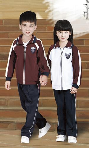 小学生校服 运动校服套装 时尚拼色运动套装