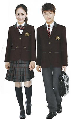 英伦风校服 时尚西装校服 经典纯色西装  马夹 衬衫 三件套