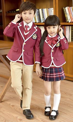 艾咪天使 高档校服 时尚幼儿园 小学 英校服西装