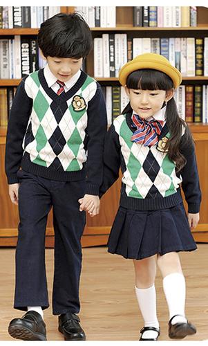 艾咪天使 高档校服 时尚英校服毛织 三件套装 看样定制