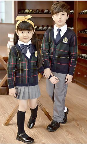 艾咪天使 高端英伦风毛织童装 中小学幼儿园毛织校服 班服 园服  套装