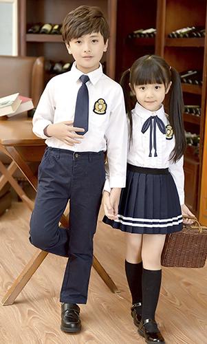 高端英伦风T恤校服 中小学幼儿园贵族学校校服
