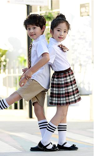 夏季校服 中小学 幼儿园T恤 短袖时尚绅士 淑女校服 班服