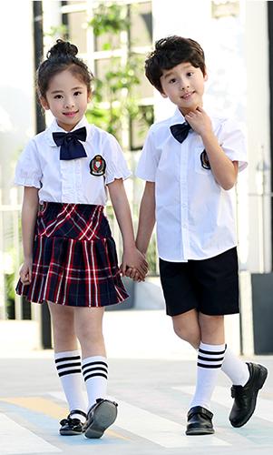 艾咪天使 日系校服 夏季衬衫校服  两件套装