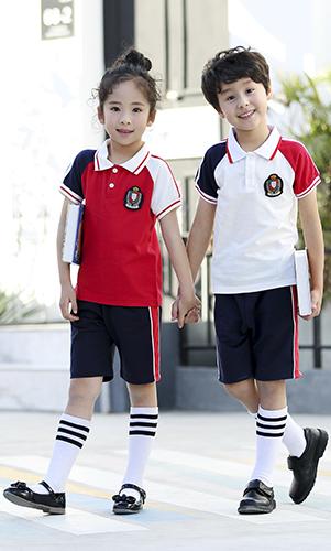 艾咪天使  2018 夏 中小学幼儿园校服时尚运动套装  班服 现货