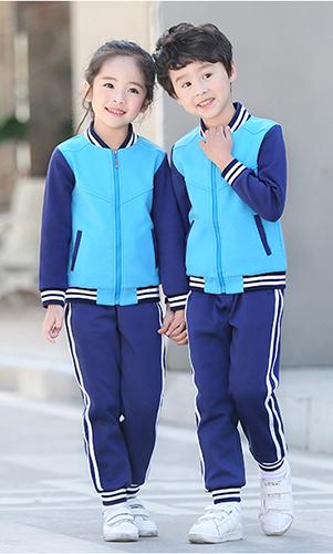 艾咪天使运动校服蓝色小学生校服班套装定制