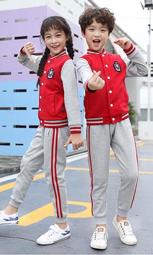 东莞艾咪天使校服 红色棒球服套装