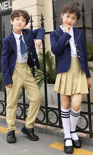 秋装时尚三件套西装外套衬衫西裤高品质校服
