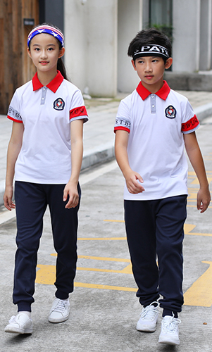 夏季运动会短袖套装校服