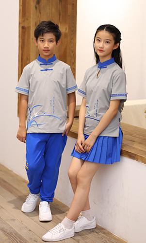 民族风校服中国学生服装