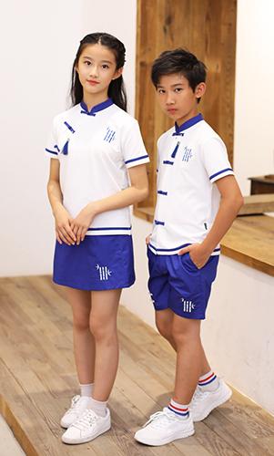 短袖中国风校服款式