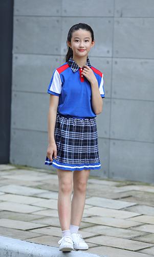 贵族学校校服短袖套装