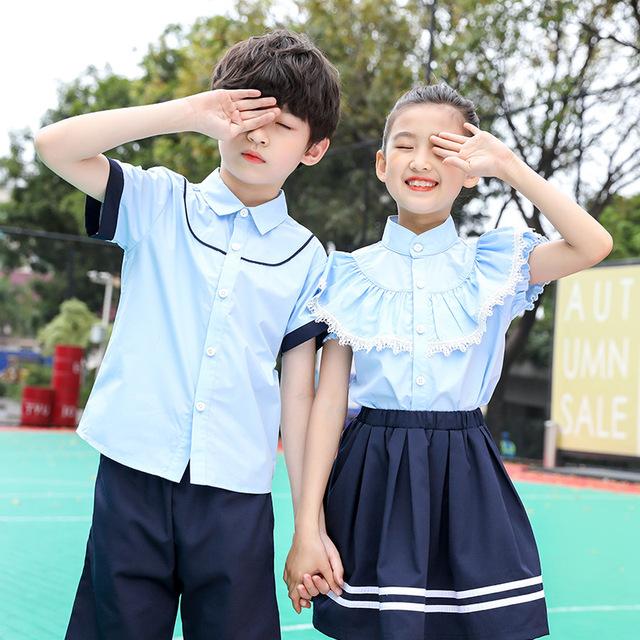 小学生校服儿童短袖毕业服班服工厂定制幼儿园园服