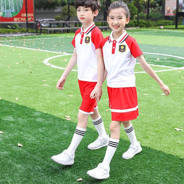 新款小学生运动校服套装 幼儿园园服