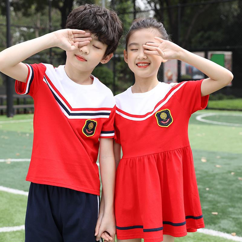 幼儿园园服儿童班服定制 英伦风小学生运动校服