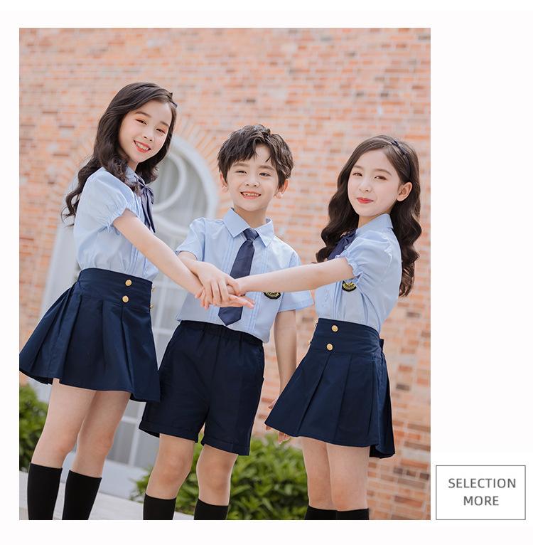 中小学生校服礼服定制 夏季套装