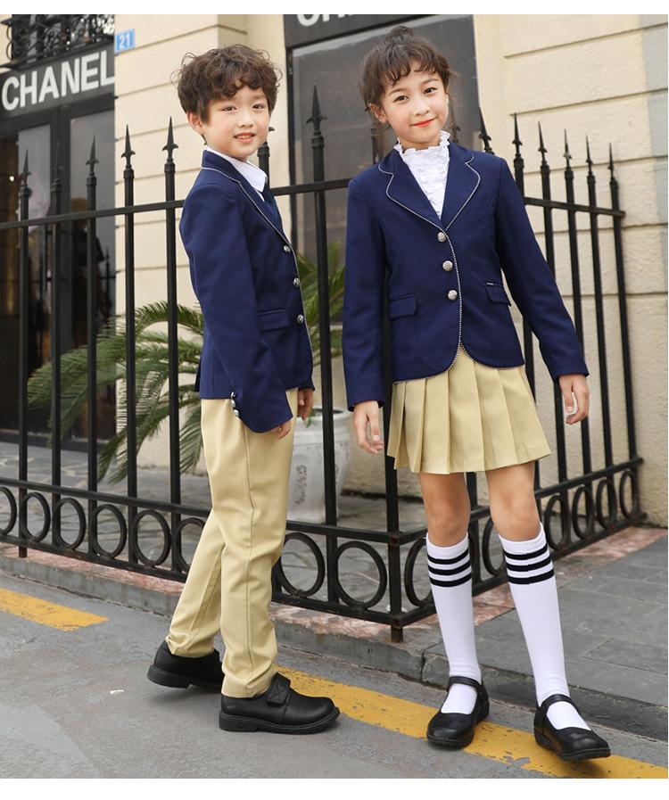 幼儿园学生夏季短袖英伦学院派定制