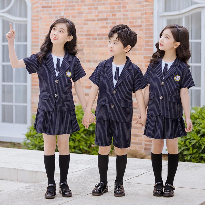 艾咪天使夏季校服气质校服两件套装校服厂家定制