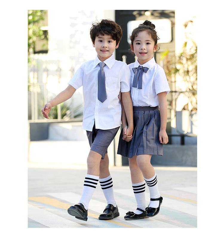 艾咪天使 贵族中小学幼儿园看样来图定制 校服夏装来样定制