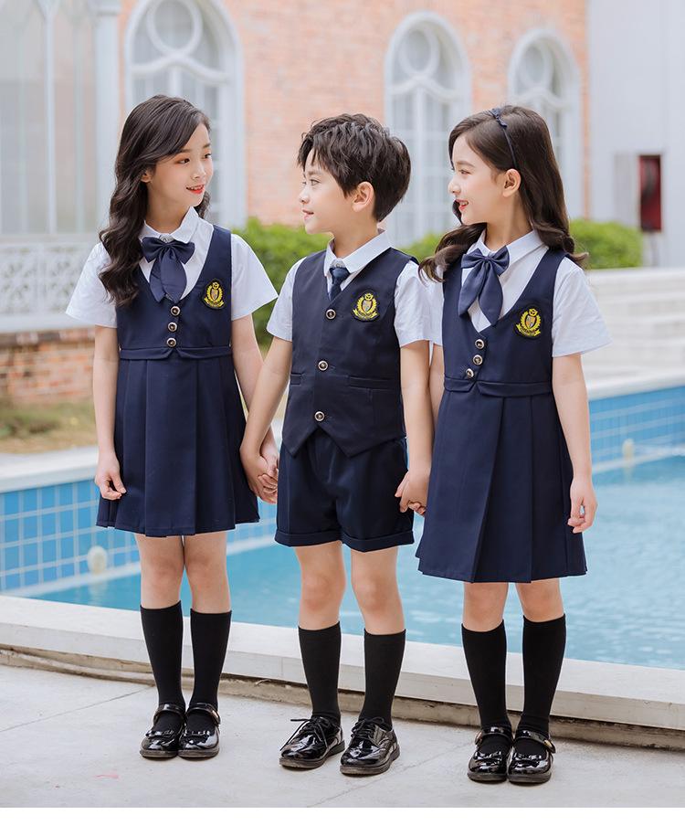 幼儿园夏季英伦风衬衫裙子园服校服