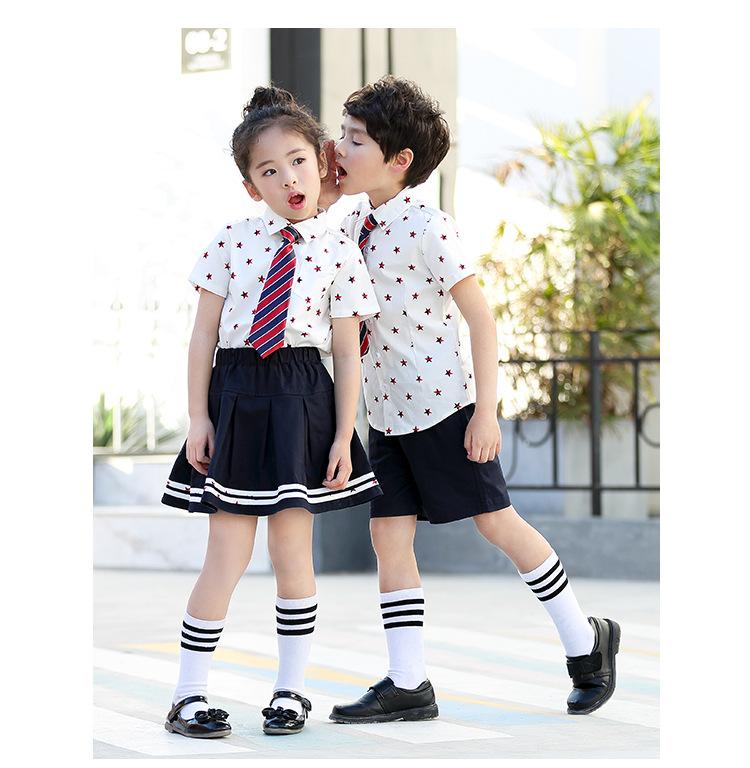 艾咪天使 中小学校服夏装幼儿园校服看样来图样衣定制
