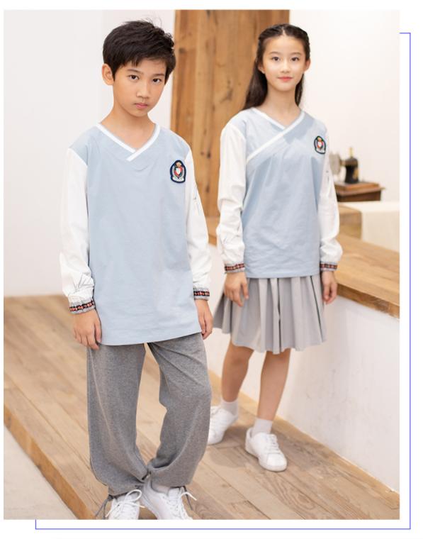 艾咪天使 原创中国风运动套装 校服园服定制厂家