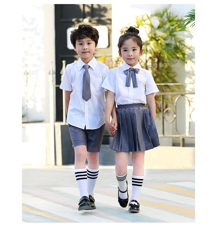 艾咪天使夏季衬衫学院风套装校服园服定制